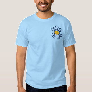 Zodiac in Cancer Embroidered T-Shirt