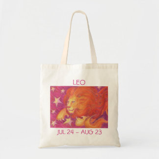 Zodiac Leo tote bag text