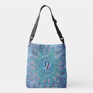 Zodiac Sign Leo Blue Green Purple Mandala Bag