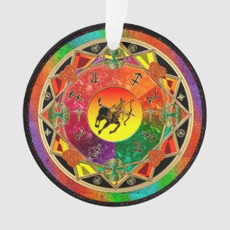 Zodiac Sign Sagittarius Mandala Ornament