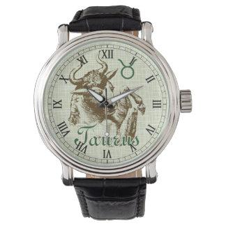 Zodiac Sign Taurus Symbol Watch