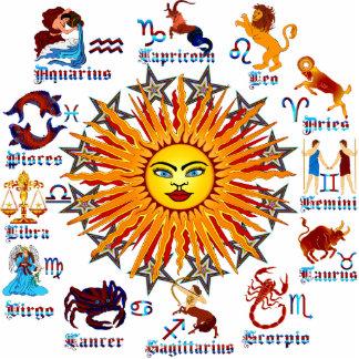 Zodiac-Signs-All-V-1 Photo Sculpture Key Ring