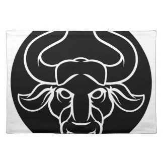 Zodiac Signs Taurus Bull Icon Placemat