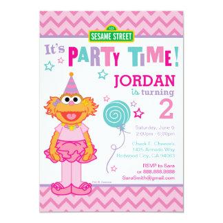 Zoe Birthday 13 Cm X 18 Cm Invitation Card
