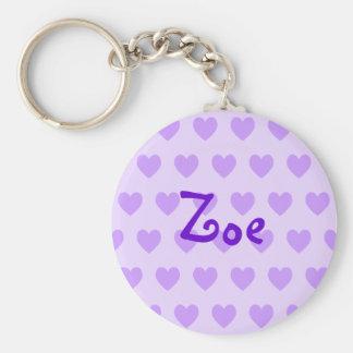 Zoe in Purple Key Ring
