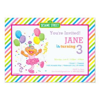 Zoe Striped Birthday Card