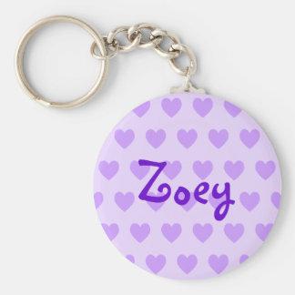 Zoey in Purple Key Ring