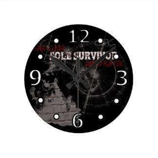 Zombie Apocalypse: Sole Survivor Wall Clock