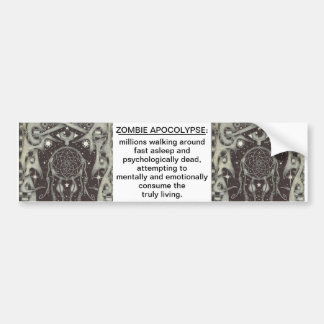 zombie apocolypse bumper sticker