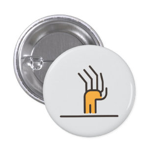 Zombie attack! 3 cm round badge