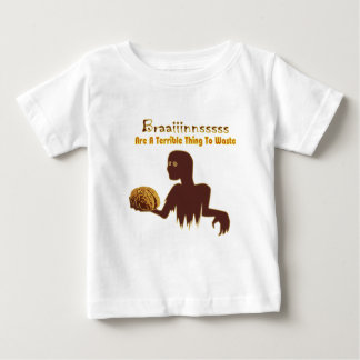 Zombie Brains Are Terrible Thing To Waste Design Tees