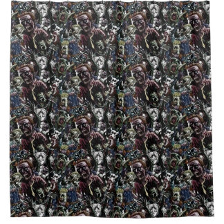 Zombie Cluster Shower Curtain