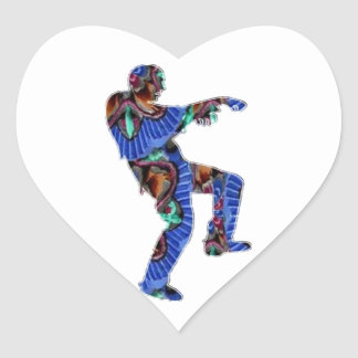 Zombie Dance - Kids PaperCraft Giveaways Heart Stickers