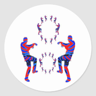 Zombie Dance - Kids PaperCraft Giveaways Round Stickers