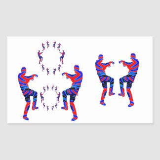 Zombie Dance - Kids PaperCraft Giveaways Rectangular Stickers