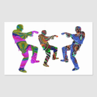 Zombie Dance - Kids PaperCraft Giveaways Rectangle Stickers