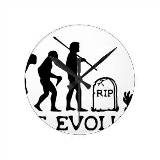 Zombie Evolution Round Clock