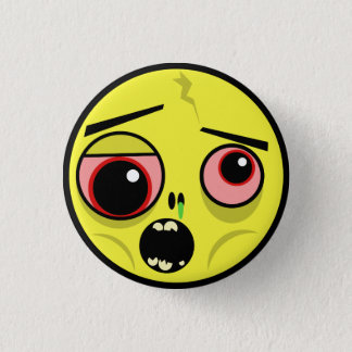Zombie Face 3 Cm Round Badge
