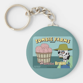 Zombie Farms Fruit Crate Label Key Chains