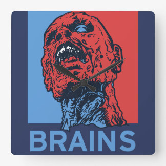 Zombie For President Square Wall Clock