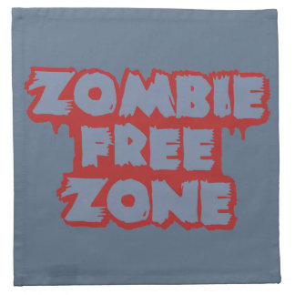 Zombie Free Zone custom cloth napkins
