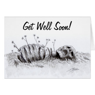 Zombie Get Well Soon Card