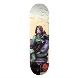 Zombie Girl Pin Up Skateboard Deck
