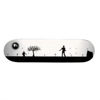 Zombie Graveyard Inverted Skate Board Deck