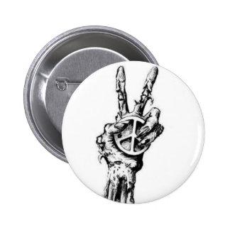 zombie hand 6 cm round badge