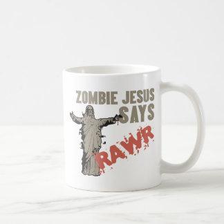 Zombie Jesus Says RAWR Coffee Mug