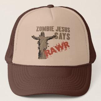 Zombie Jesus Says RAWR Trucker Hat