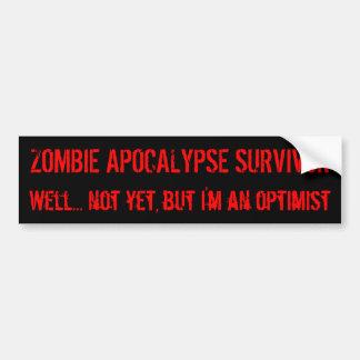 Zombie Optimism Bumper Sticker