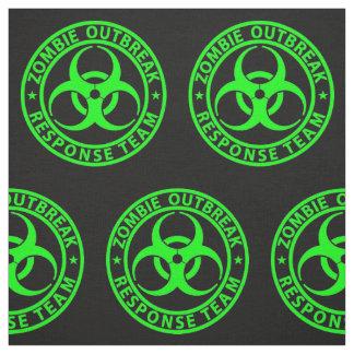 Zombie Outbreak Response Team Neon Green Fabric
