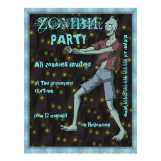 Zombie Party template for Flyer