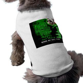 Zombie Pigs Hunter Sleeveless Dog Shirt