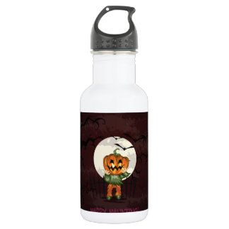 Zombie pumpkins head in graveyard Halloween 532 Ml Water Bottle