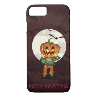 Zombie pumpkins head in graveyard Halloween iPhone 7 Case