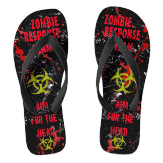 Zombie Response Team! Dead Sexy! MEN/WOMEN'S Sizes Jandals