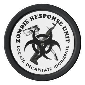 Zombie Response Unit on Poker chips