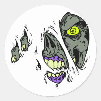 Zombie Rip Through Design Stickers