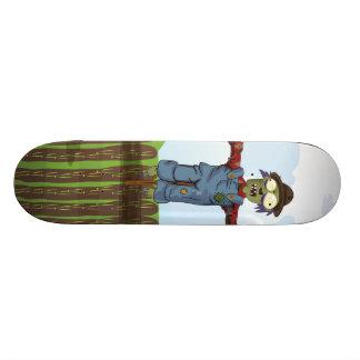 Zombie Scarecrow Custom Skate Board