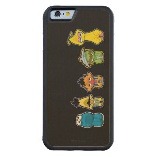 Zombie Sesame Street Characters Carved Maple iPhone 6 Bumper Case