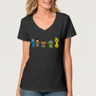 Zombie Sesame Street Characters T-Shirt