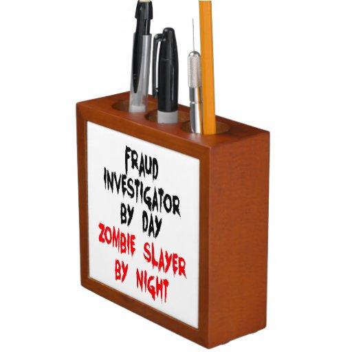 Zombie Slayer Fraud Investigator Pencil/Pen Holder
