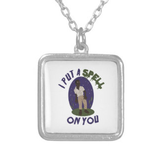 Zombie Spell Square Pendant Necklace
