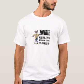 Zombie survival tip t-shirt