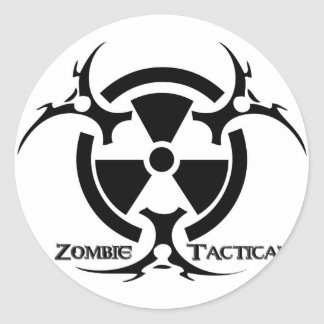 Zombie Tactical Apparel Classic Round Sticker