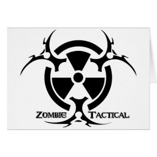 Zombie Tactical greeting card