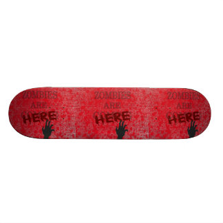 Zombies Are Here Blood Splattered Newspaper Skate Board