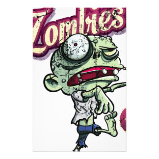 Zombies eat Brains Stationery